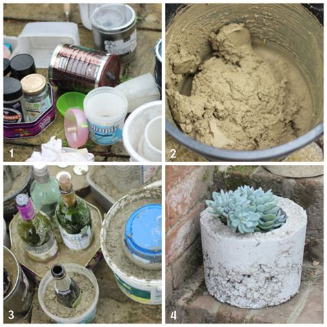 Concrete Planters Diy by Make It Diy Concrete Planters Growing Spaces
