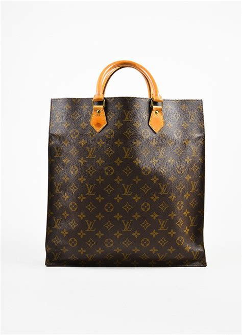 louis vuitton brown  tan coated canvas monogram sac