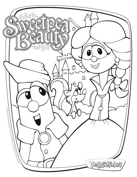 printable coloring pages veggie tales sweetpea beauty veggie tales movie for girls giveaway