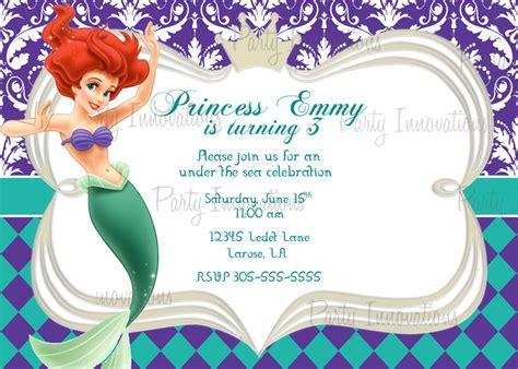 40th birthday ideas mermaid birthday invitation templates