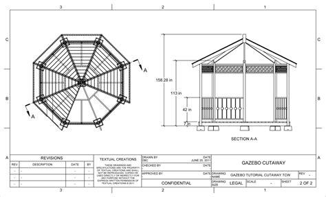 Gazebo Floor Plans by Octagon Gazebo Building Plans Architecture Plans 20956