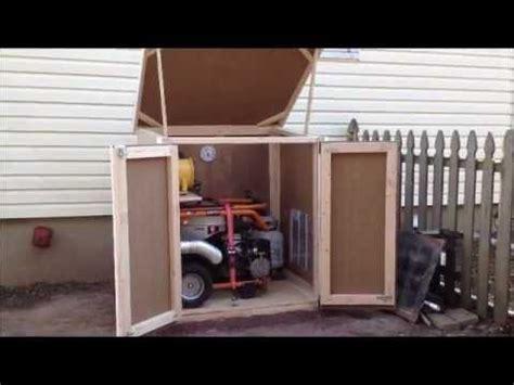 outdoor enclosure  portable generator youtube