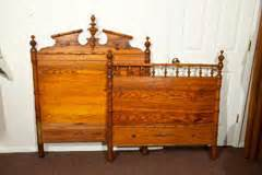 pine headboard and footboard pine bed with headboard and footboard at 1stdibs