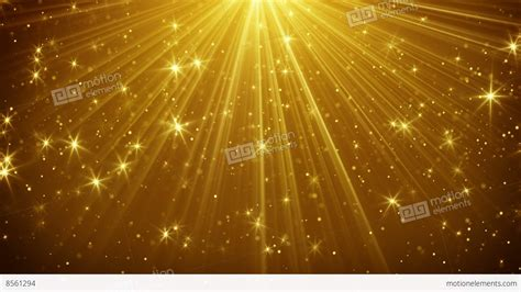 Gold Light Rays And Stars Loopable Background 4k And Gold Lights