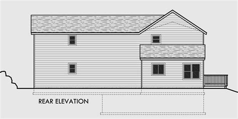 house plans for sloping lots in the rear house plans for narrow lots sloping