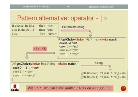 scala pattern matching two variables scala pattern matching concepts and implementations