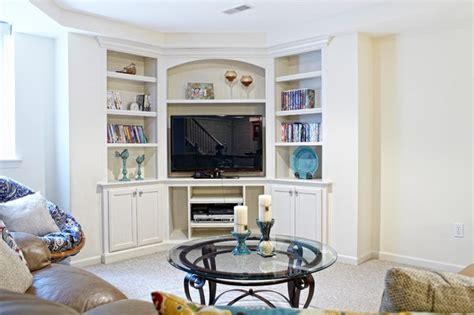 corner tv built ins family tv room