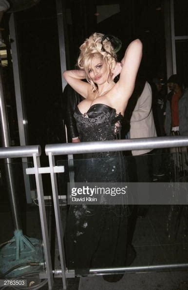 anna nicole smith party model anna nicole smith poses outside her birthday party