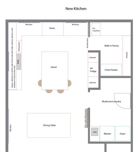 design floorplan all the kitchen plans chris loves julia