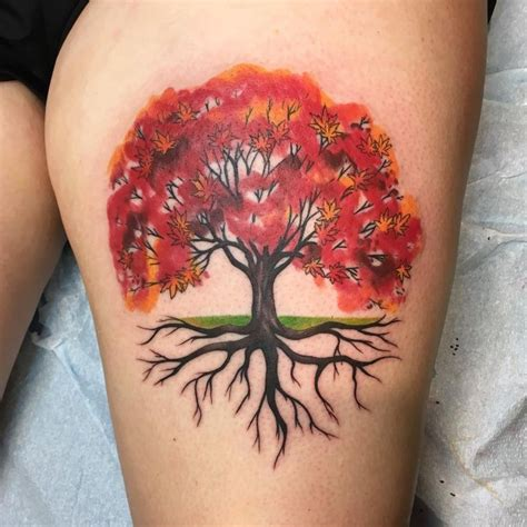 maple tree tattoo designs image result for watercolor tree ideas