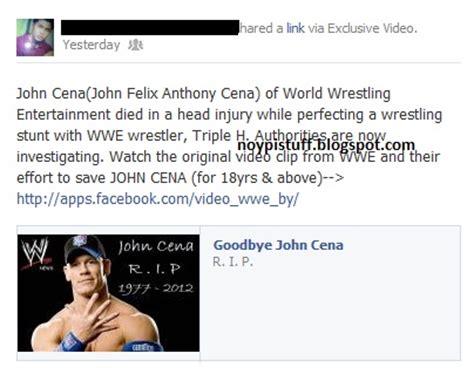 wwe john cena wrestler dies john cena dead wrestler dies of head injury