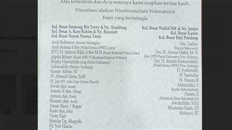 deretan nama pejabat ikut mengundang  pernikahan evi masamba