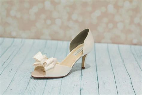Bridal Shoes With Bow by Wedding Shoes Bridal Shoe Bow Shoes Dyeable Satin