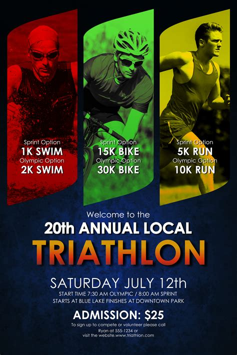 triathlon template triathlon poster