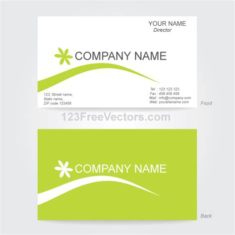 business card template illustrator by 123freevectors on