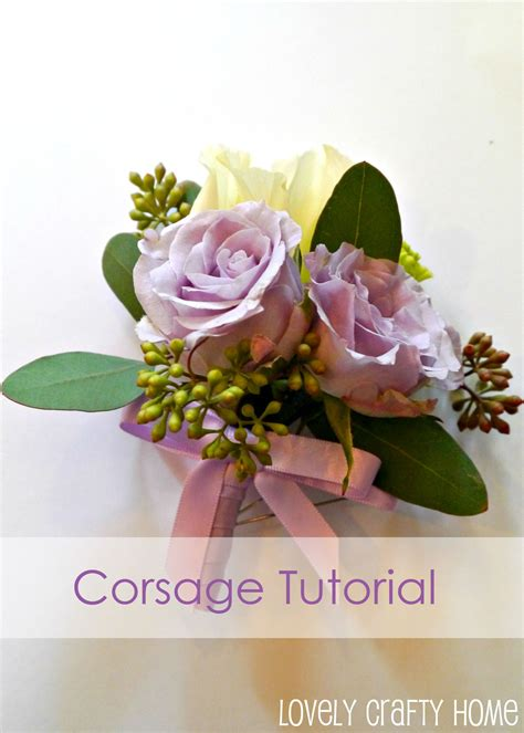 Handmade Corsage - 187 tutorial how to make a corsage like a pro