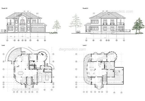 villa layout dwg villa 2 dwg free cad blocks download