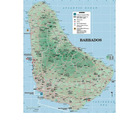 barbados maps including outline and topographical maps maps of barbados detailed map of barbados in english
