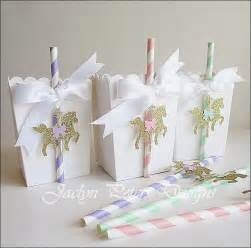Popcorn favor box carousel baby shower from jaclyn peters