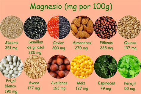 alimentos  contienen magnesio calorias  nutrientes
