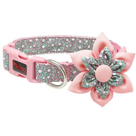 fancy dog collar detachable flower decoration small large