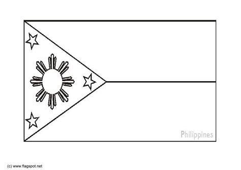 Coloring Page Flag The Philipines Img 6278 Philippines Flag Coloring Page