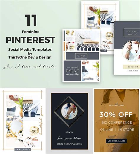Pinterest Social Media Templates Free Download Social Media Design Templates Free