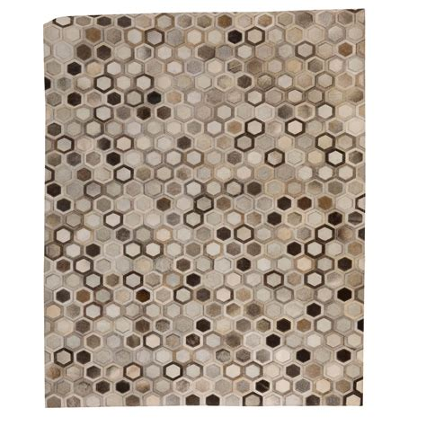 Patchwork Leather Rug - patchwork leather cowhide rug 12p5106 140x200cm 1
