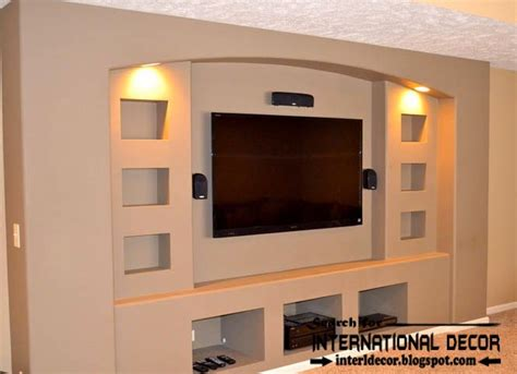 built in tv wall stylish built in shelves corner shelves of plasterboard