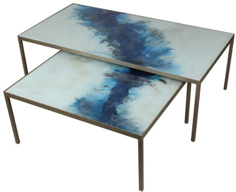 2 coffee table set 2 coffee table blue mist organic interni