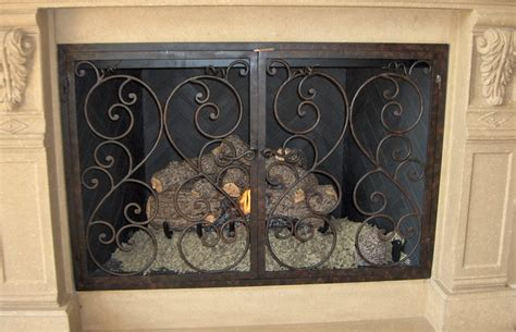 Handmade Fireplace Screens - forged custom fireplace screens noble forge