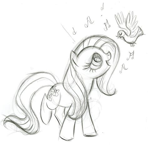 my little pony g4 coloring pages fluttershy sings by fyre flye on deviantart