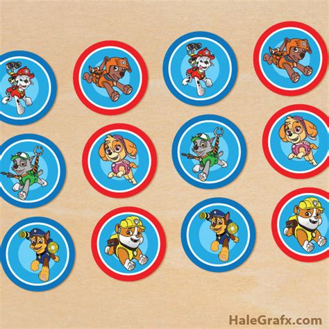 printable paw patrol birthday decorations free printable paw patrol cupcake toppers little ones