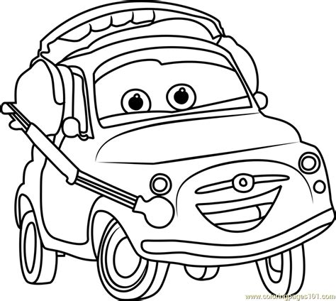 coloring pages cars 3 luigi from cars 3 coloring page free cars 3 coloring