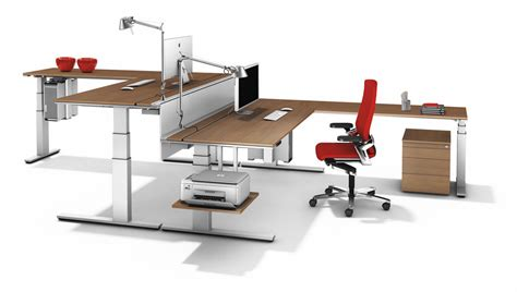 Height Adjustable Desk Office Home Design Ideas Used Adjustable Height Desk