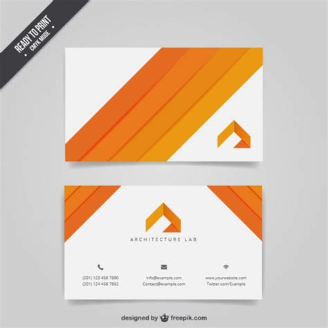 business card templates in vector architecture business card vector free