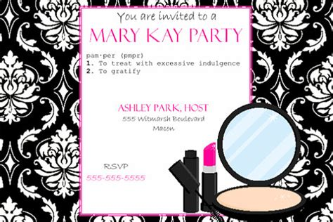 items similar to pink and black party invitation mary kay