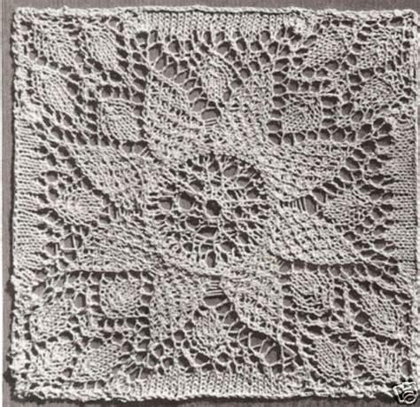 Vintage Crochet Pattern To Make Block Lace Flower vintage knitting pattern to make lace flower bedspread