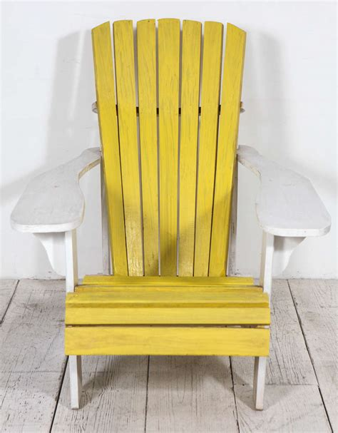 Painted Adirondack Chairs by Pair Of Vintage Painted Adirondack Chairs At 1stdibs