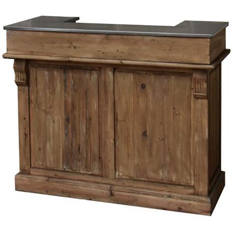 vente comptoir bar ancien style ancien bar comptoir en bois de pin recycl 233 et zinc