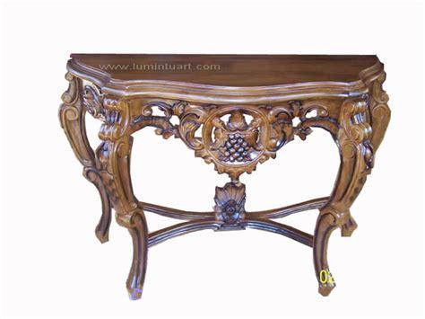 Meja Consul 1 meja dinding ukiran meja consule ukiran kayu jati jepara ud lumintu gallery furniture