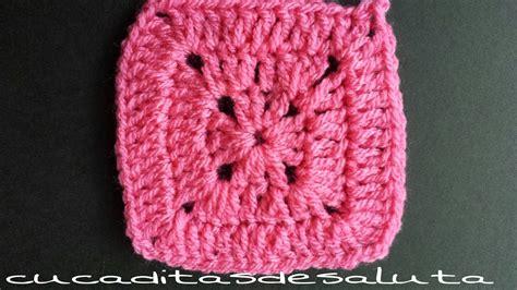 cuadrado de ganchillo cuadrado a crochet punto alto 161 161 paso a paso youtube