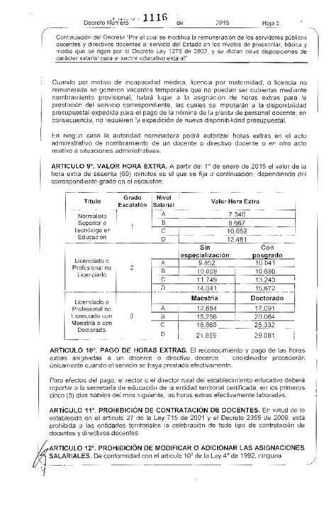 asinacion salarial docentes 1278 ao 2016 decreto salarial del r 233 gimen 1278 para el 2015
