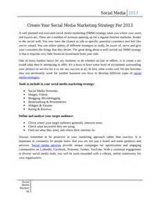 Social Network Business Plan Template Social Media Strategy Template Template For Social Media