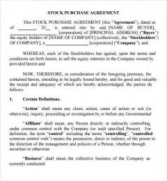 stock purchase agreement 10 download documents in pdf