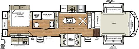 fifth wheel floor plans front living room noble rv iowa and minnesota rv dealer mn ia rv sales