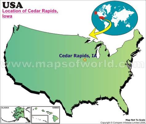 map of cedar rapids iowa where is cedar rapids iowa