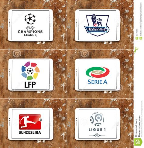 best football leagues top soccer or football league icons and brands in