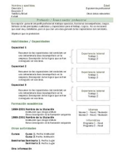Modelo Curriculum España Descargar Modelos De Curr 237 Culum Modelo Funcional 2 Modelo Curriculum