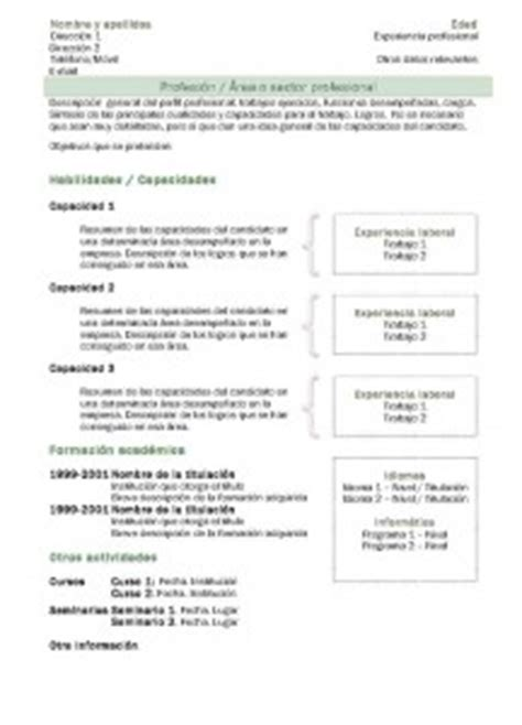 Modelo Curriculum Vitae Funcional Pdf Modelos De Curr 237 Culum Modelo Funcional 2 Modelo Curriculum